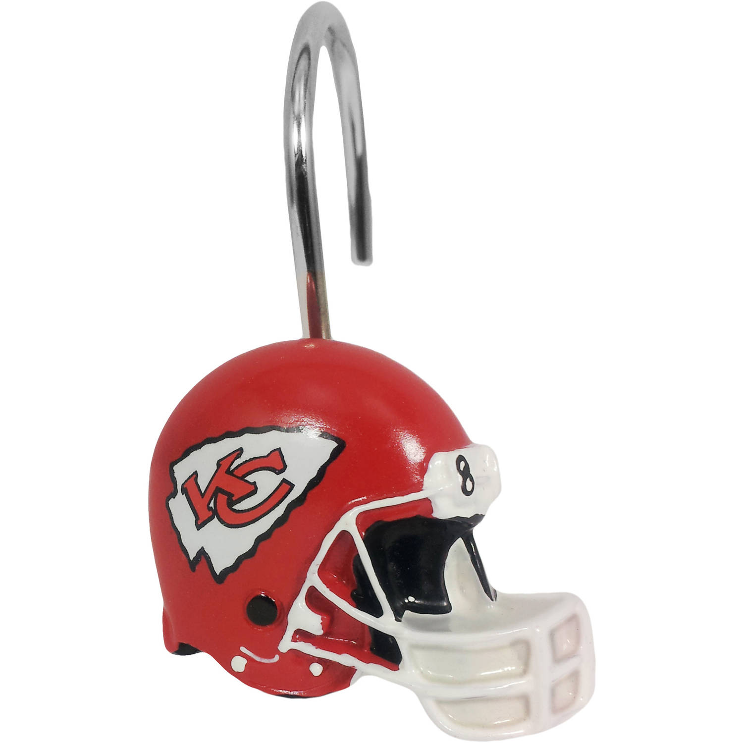 NFL 12-Piece Shower Curtain Ring Set, Chiefs