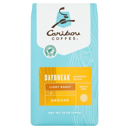 Caribou Coffee  Morning Blend Daybreak Light Roast Ground Coffee 12 Oz  Stand Up Bag
