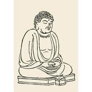 Japan Grand Buddha Ndaibutsu The Grand Buddha (Japanese) Rolled Canvas Art -  (24 x 36)