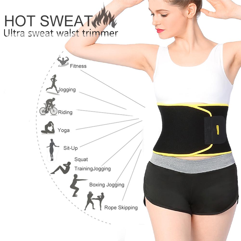 Yosoo Waist Trimmer, Exercise Band Abdominal Sweat Wrap Adjustable, Loss Weight Fat Burn Cincher Belt, Slim Body-Shape Belly Band