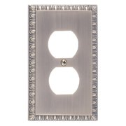 BRASS Accents Egg and Dart Single Outlet Plate