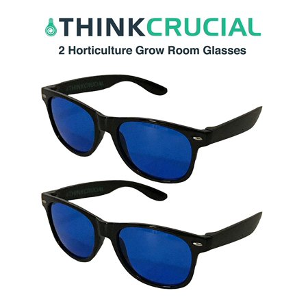 2 Horticulture Indoor Hydroponics Grow Room & Greenhouse Light Glasses (Goggles), Anti UV, Ultra-Violet, HPS, MH Lights Reflection & Glare Optical Protection, by By Think -