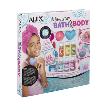 ALEX Spa Ultimate DIY Bath & Body Set: Make Bath Bombs, Perfume, and Much More! - Mini Spa Kit