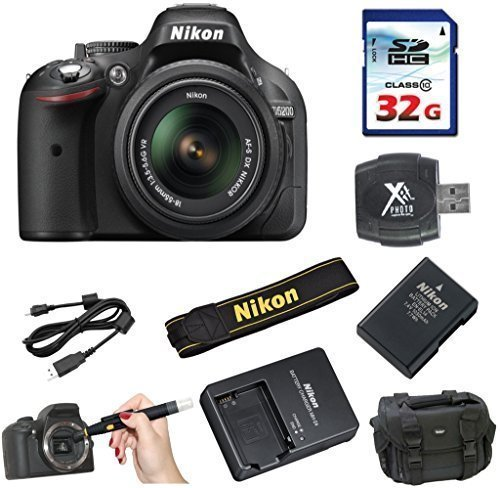Nikon D5200 DSLR Body + Nikon 18-55mm VR Lens + 32GB Clas...