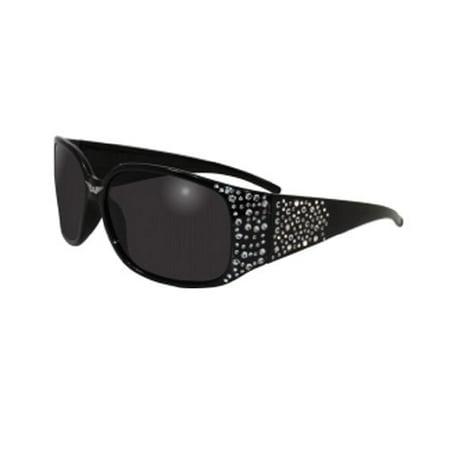 - Global Vision Eyewear Galaxy Sunglasses, Smoke Tint Lens, Black Bling Frames