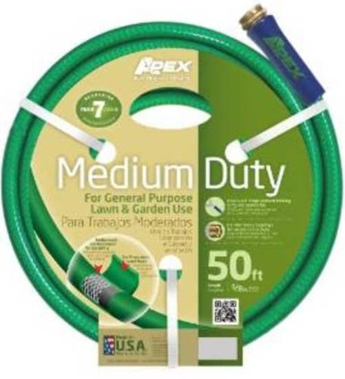 Teknor Apex 8535-050 Garden Hoses, Medium Duty, 5/8 x 50 Foot