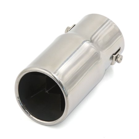Unique Bargains Universla Stainless Steel Oval Outlet Exhaust Muffler Tip 66Mm Inlet For Car