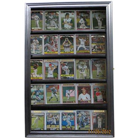 (Sport Trading Card/Pokemon Card Display Case Wall Cabinet Shadow Box, SPC01-BLA)