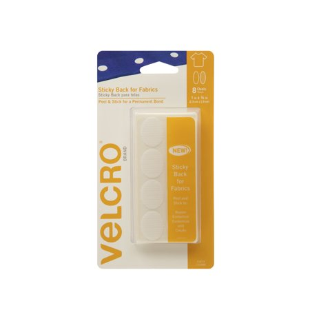 velcro brand sticky back for fabrics 1in x 3 4in ovals white 8 ct. Black Bedroom Furniture Sets. Home Design Ideas