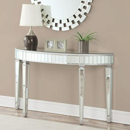 Coaster Furniture Mirrored Crescent Console (Console Table And Mirror)