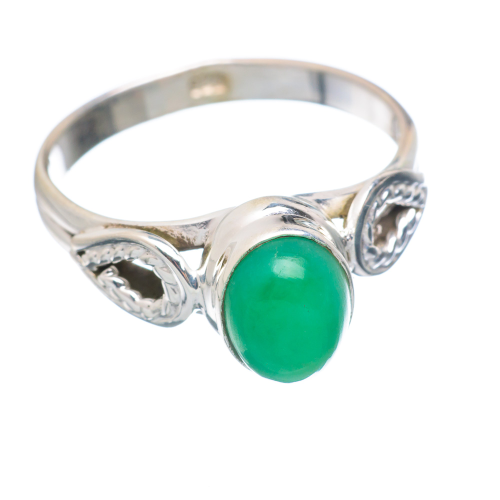 Ana Silver Co Chrysoprase Ring Size 8 (925 Sterling Silver) Handmade Jewelry RING854817 by Ana Silver Co.