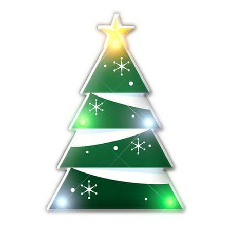 Holiday Flashing Christmas Tree Lapel Pin Body Light
