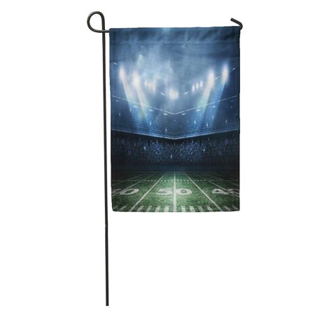 KDAGR Light American Football Stadium Field Night Fan Soccer Arena Garden Flag Decorative Flag House Banner 12x18
