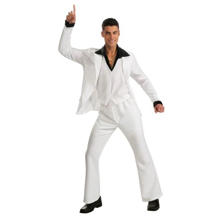 Adult Saturday Night Fever White Suit Costume Rubies 880369 - Saturday Halloween