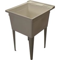 Zurn Light Commercial Floor Mounted Multi Purpose Sink With Dual Handle Deck Faucet