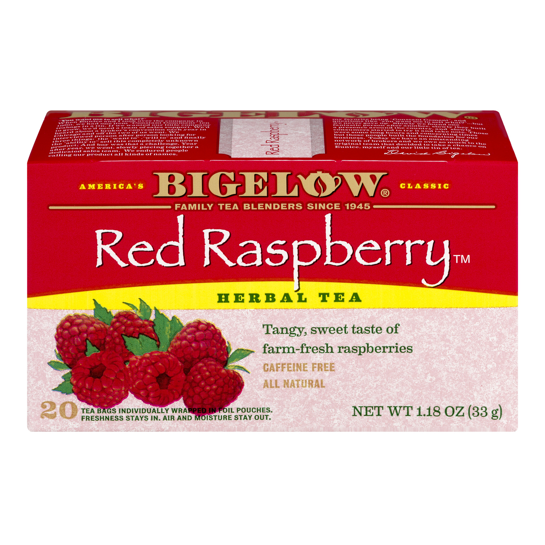 Bigelow Herbal Tea Bags Red Raspberry - 20 CT20.0 OZ
