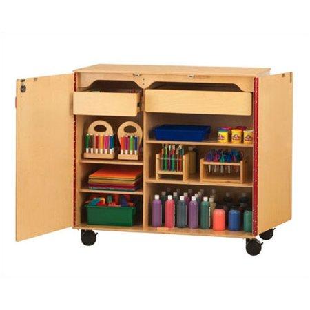 Jonti Craft Compartment Classroom Cabinet Casters