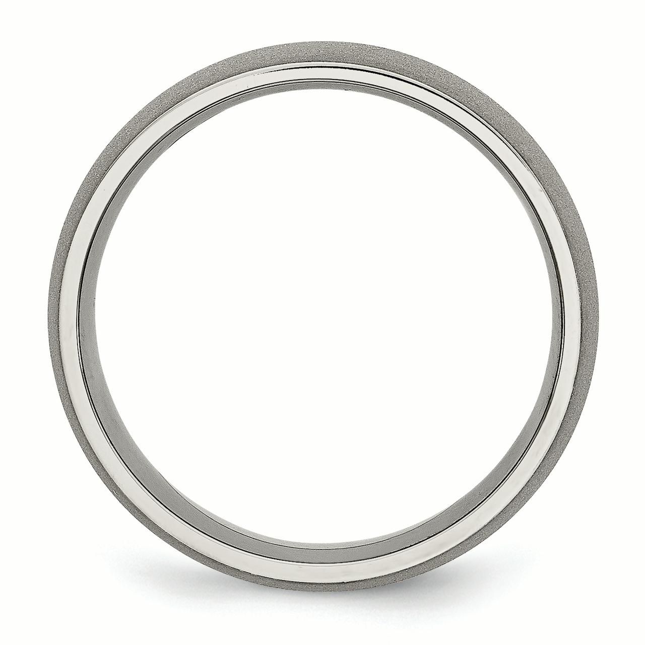 Titanium Stone Finish 7mm Wedding Ring Band Size 9.50 Classic Domed Fashion Jewelry Gifts For Women For Her - image 4 of 6