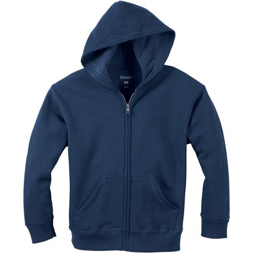 Hanes Boys' EcoSmart Solid Fleece Full Zip Hoodie