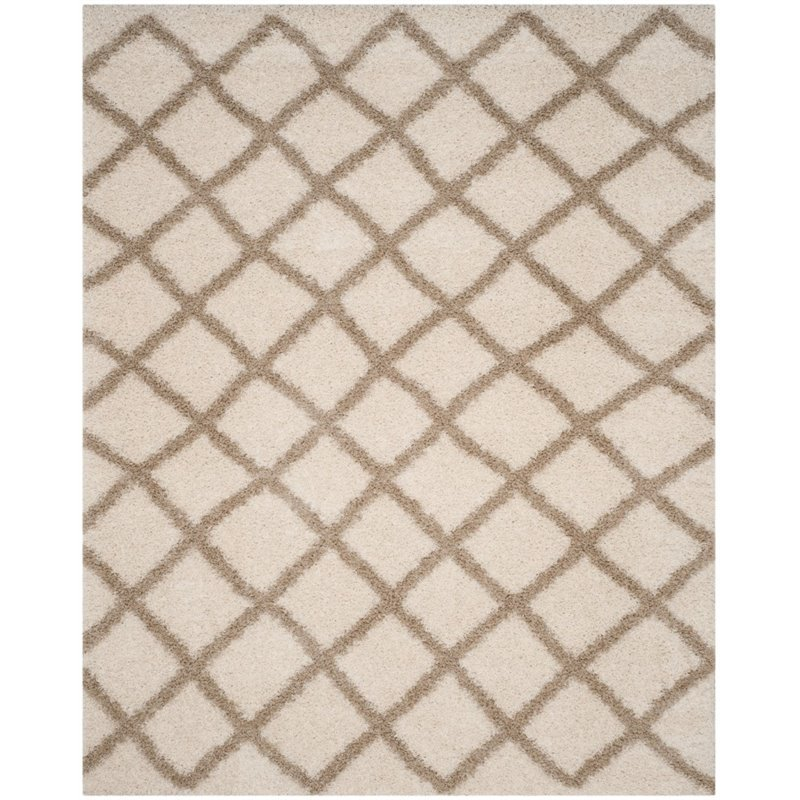 Safavieh Dallas Shag 4' X 6' Power Loomed Rug in Ivory and Beige - image 4 of 5