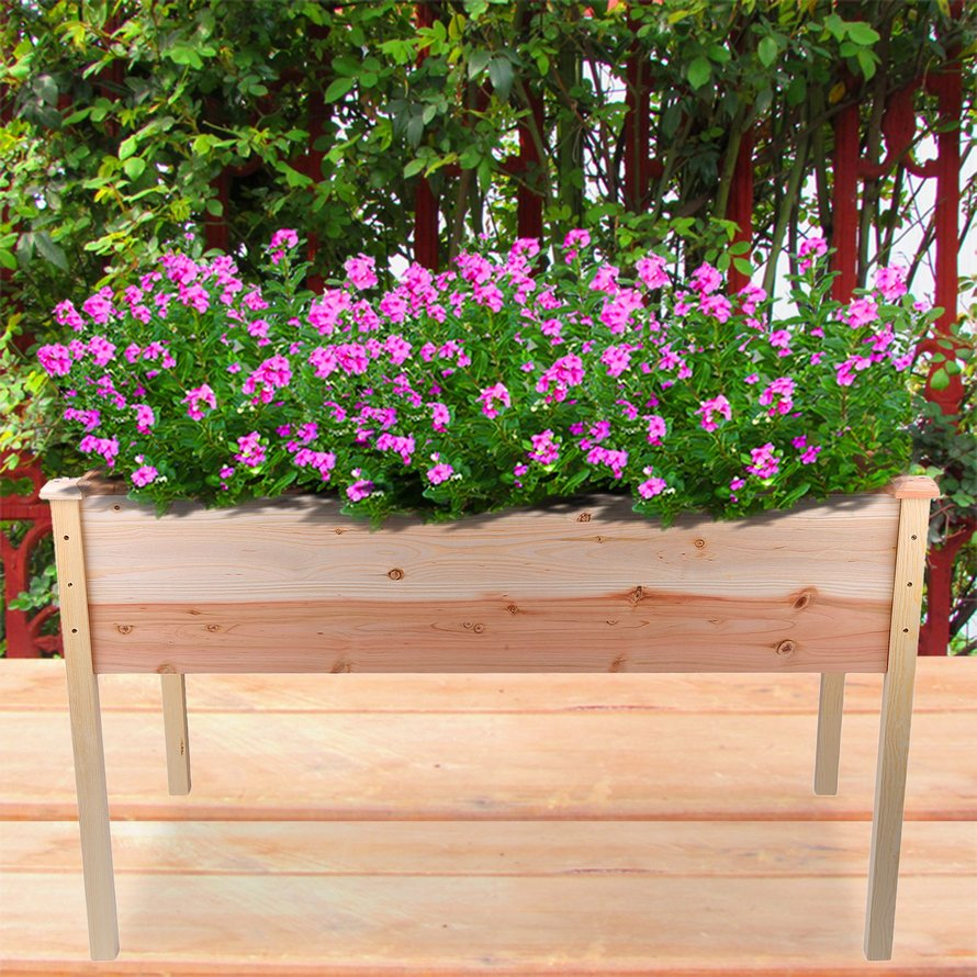 Elevated Flowerpot Raised Vegetable Bed Landscape Garden Box Bed Elevated  Garden Planter Outdoor Gardening Vertical Planter