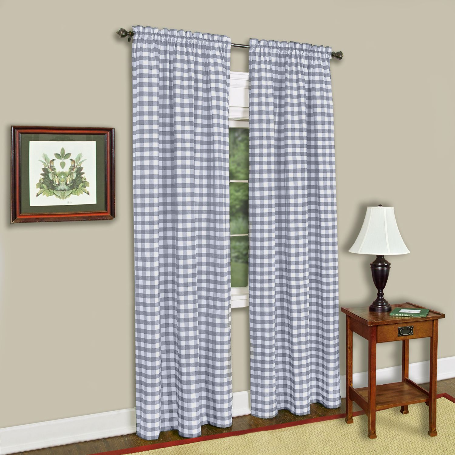 Achim Buffalo Check Window Curtain Panel Walmart Com Walmart Com