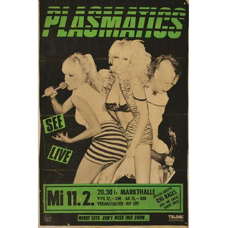 Plasmatic by Annex Punk Rock Music Vintage Concert Band Poster Art Poster Print - Punk Rock Decor