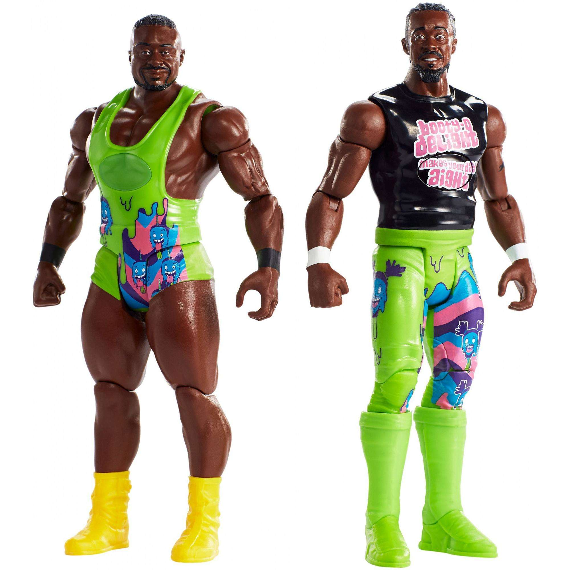 WWE Tough Talkers Total Tag Team Big E & Kofi Kingston 2-Pack by Mattel