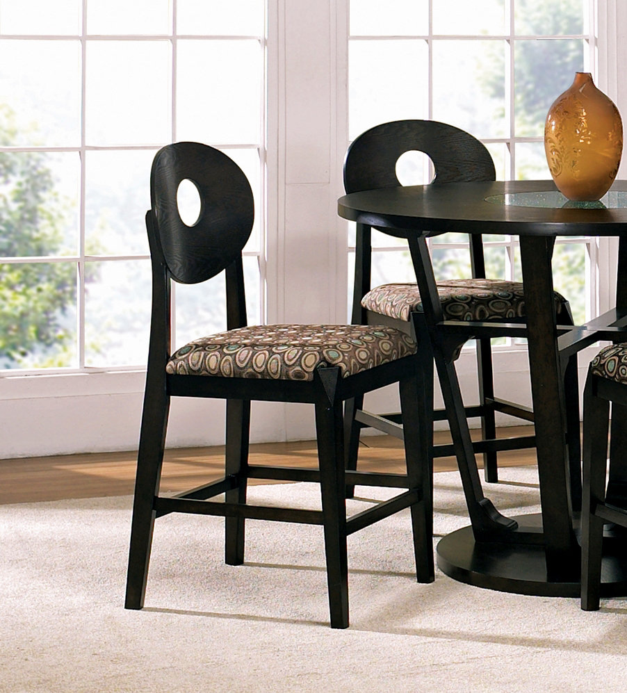 "Steve Silver Company Optima 24"" Counter Stool in Black"