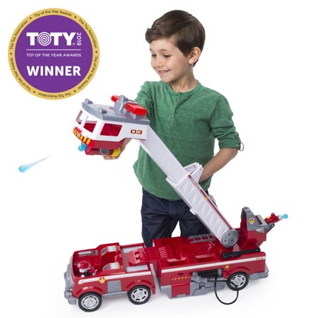 PAW Patrol Ultimate Rescue Fire Truck with Extendable 2 ft. Tall Ladder, for Ages 3 and