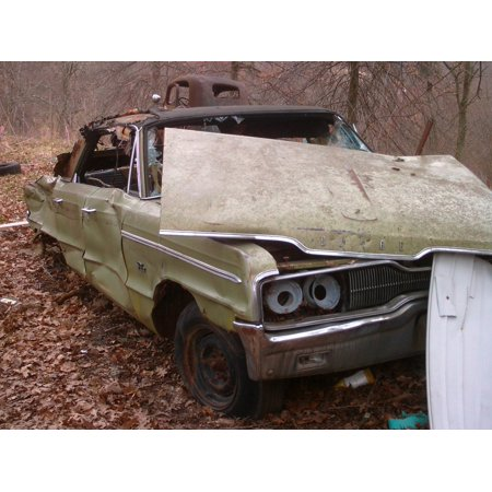 Laminated Poster Derelict Retro Car Rust Metal Junk Steel Poster Print 24 x 36