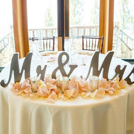 Meigar Mr and Mrs Sign Wedding Table Decorations,Mr and Mrs Letters Decorative Letters for Wedding Photo Props Party Banner Decoration Christmas Gift](Wedding Reception Decoration)