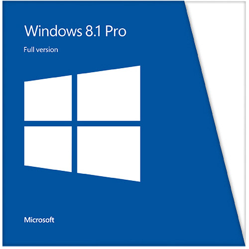 Microsoft Windows Professional 8.1 Full Version 32/64-bit Edition (PC)