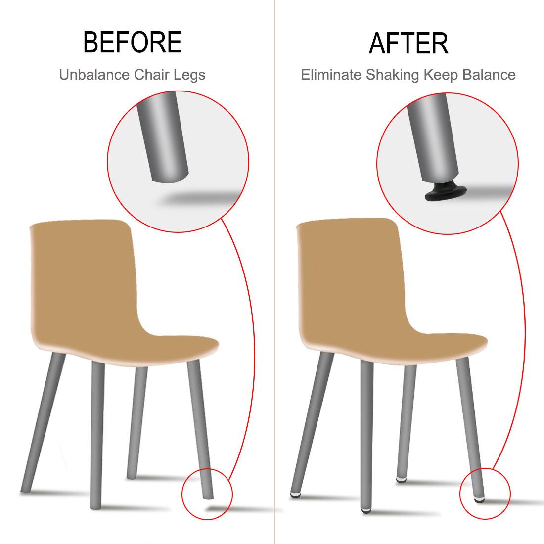 M8 x 18 x 45mm Furniture Glide Leveling Feet Plastic Adjuster for Chair Leg 8pcs - image 2 de 7