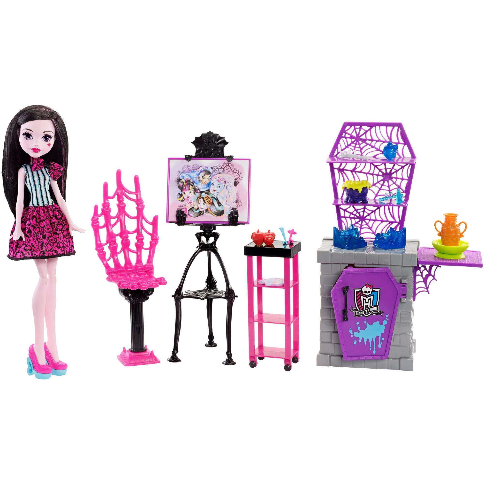 Monster High Skulltimate Art Class Draculaura Doll & Playset