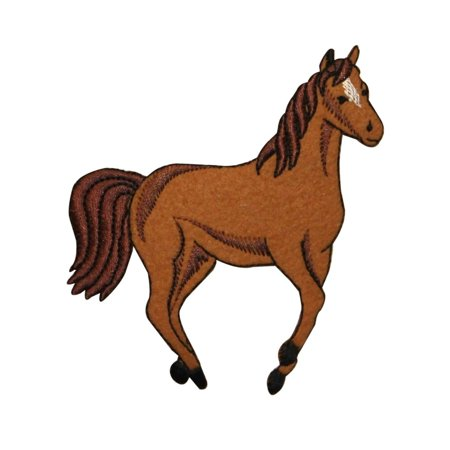 ID 0726Y Wild Horse Running Patch Farm Animal Mare Embroidered Iron On