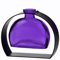 Couronne Co Fiji Recycled Glass Vase and Arched Metal Stand, M246-200-00-P, 5 inches tall, 6 ounces, Clear