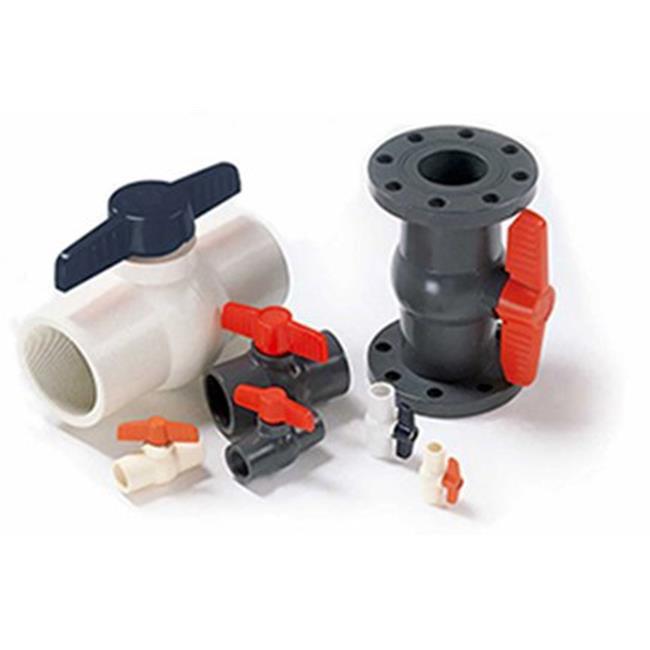 American Valve P201 2 1-2 2.5 in. PVC 2 Piece Ball Valve - International Polymer Solutions Schedule 80