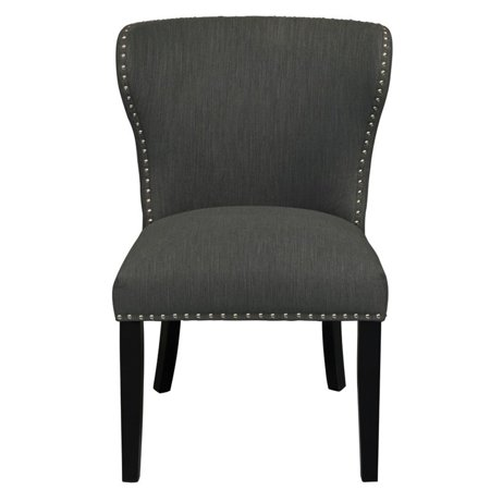 Accentrics Home Modified Wing Back Accent Chair in Gray ()