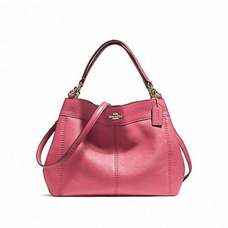 Coach - NEW COACH (F23537) ROUGE PINK LEXY PEBBLED LEATHER SHOULDER BAG  HANDBAG PURSE - Walmart.com 499407a7398a5