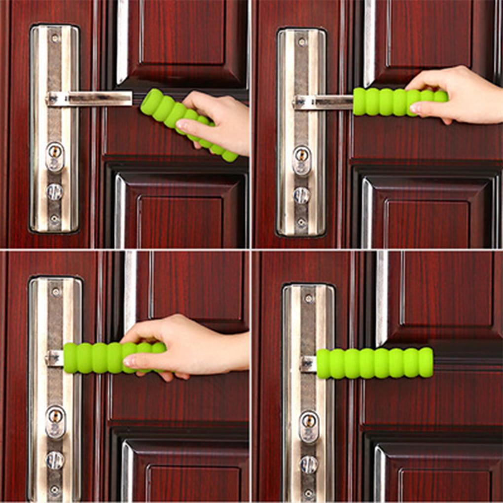 2pcs//set Spiral Soft Foam Door Handle Cover Door Knob Sleeve for Bedroom