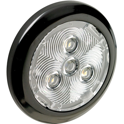 "Attwood 2.75"" Round LED White Plastic Interior/Exterior Light, White"