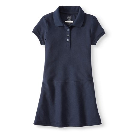 Wonder Nation School Uniform Polo Dress (Toddler Girls)