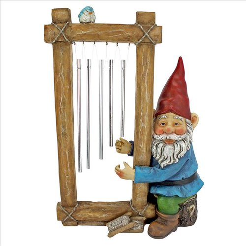 Design Toscano Ringing His Chimes Garden Gnome Statue by Design Toscano