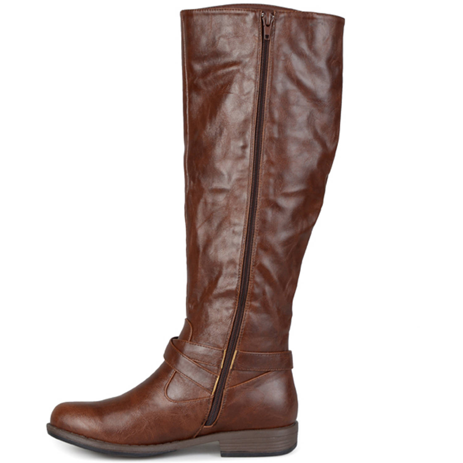 Brinley Co. Women's Round Toe Buckle Detail Boots Boots Boots d7c617