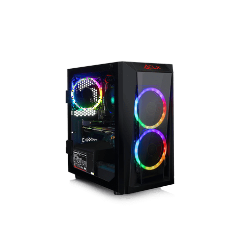 CLX SET E-Sports Gaming Desktop AMD Ryzen 3 2300X 3.50GHz, 8GB DDR4, AMD Radeon RX 580 4GB, 480GB SSD, Windows 10 Home 64-bit Desktop Reference Starter Set