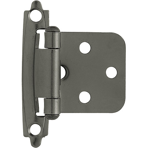 Brainerd Self-Closing Overlay Hinge, Black Nickel