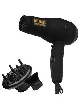 Hot Tools Signature Series Ionic DC Travel Hair Dryer, Black, HTDR5582N1