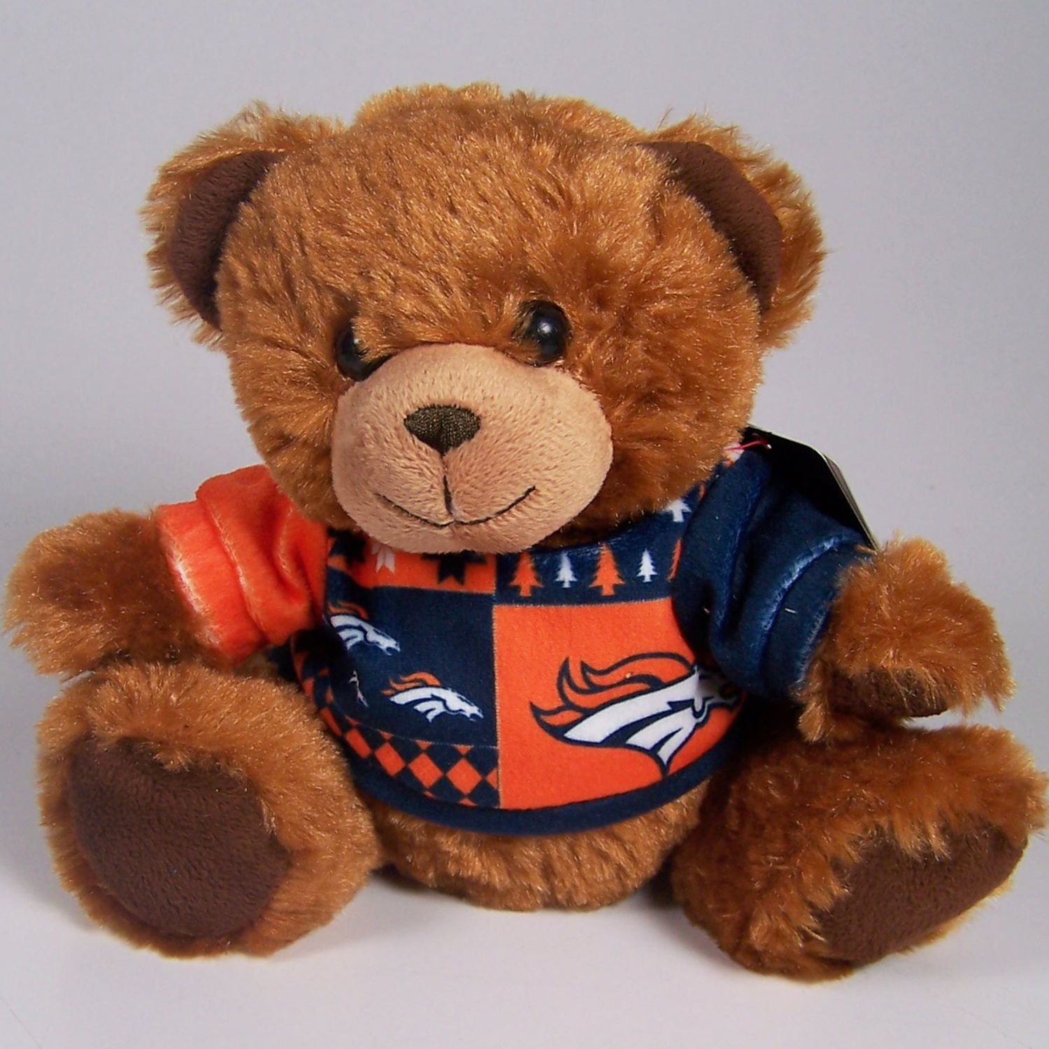 Denver Broncos Official NFL 8 inch  Ugly Sweater Plush Teddy Bear by Forever Collectibles