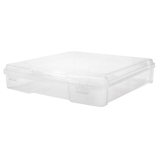 Iris Plastic Scrapbook Case For 12 X 12 Inch Scrapbook Paper Clear